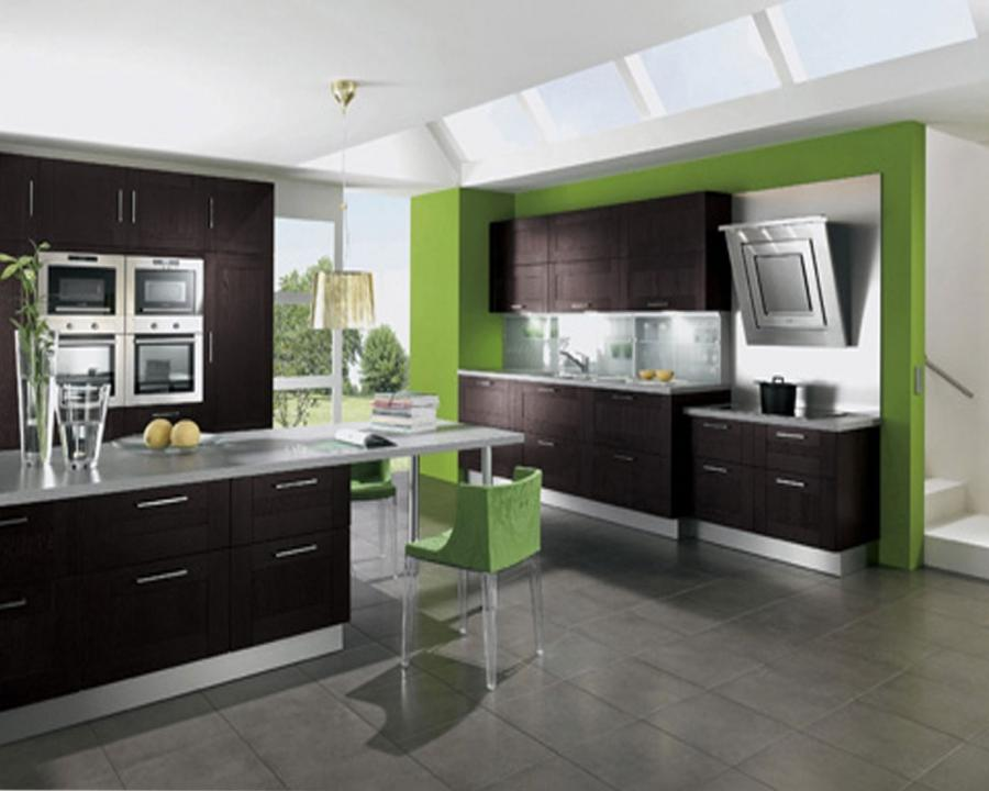 green brown kitchen ideas design