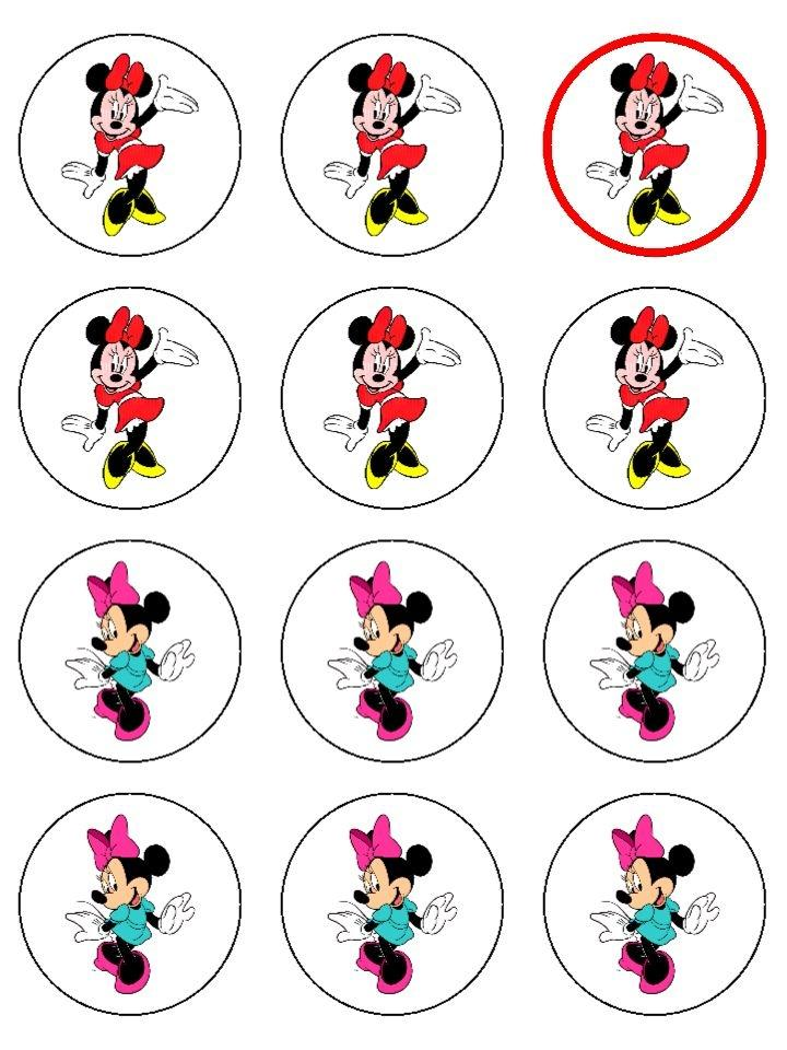 Minnie Mouse Edible Icing Cup Cake Toppers#2