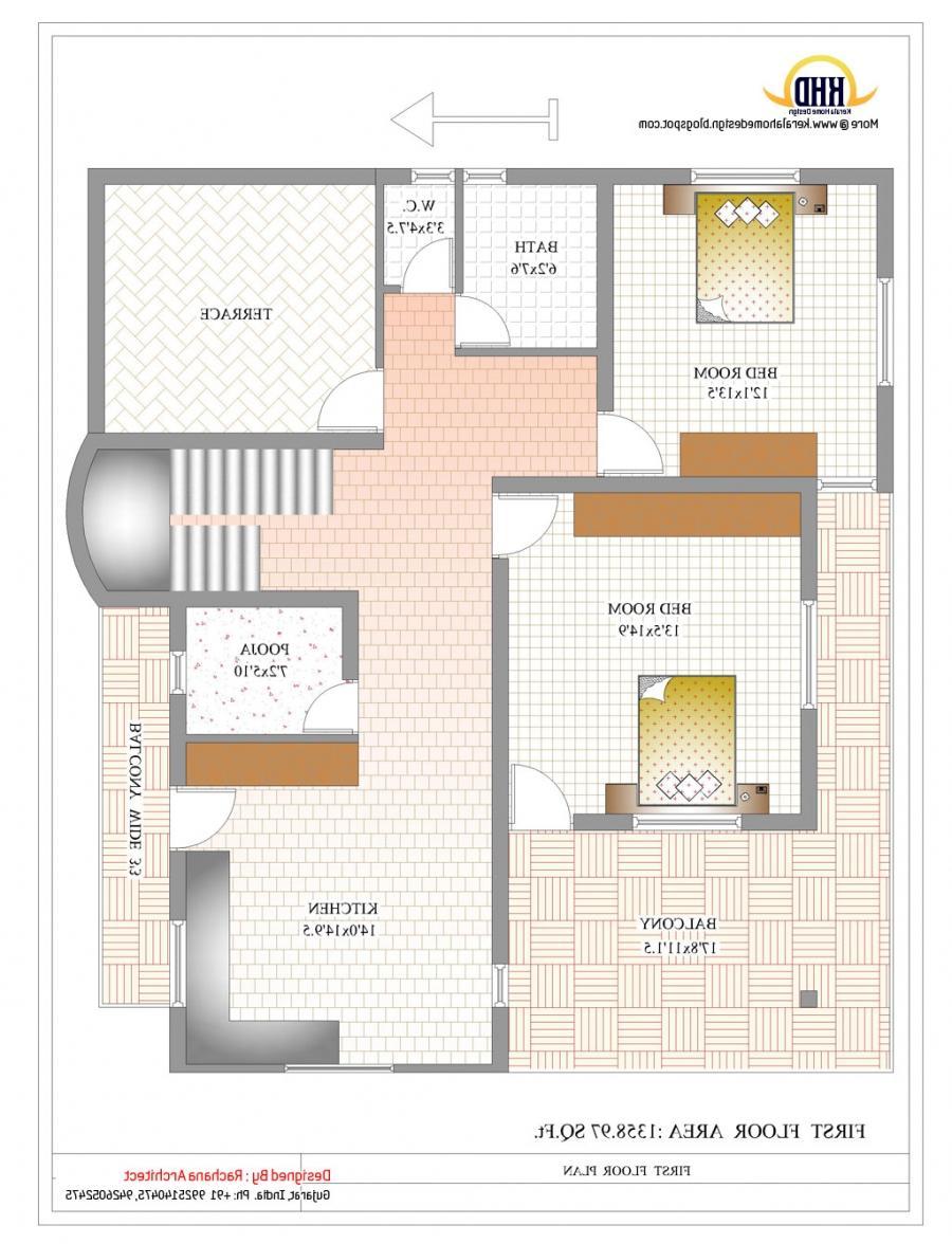 Duplex house plans elevation photos indian style for Duplex house plans indian style