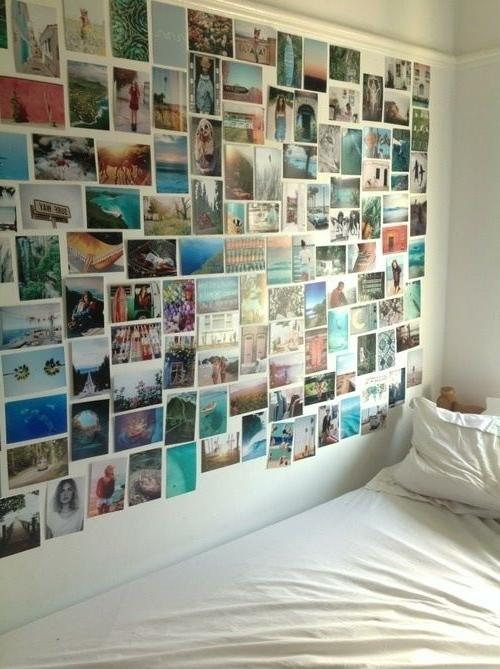 bedroom photo collage