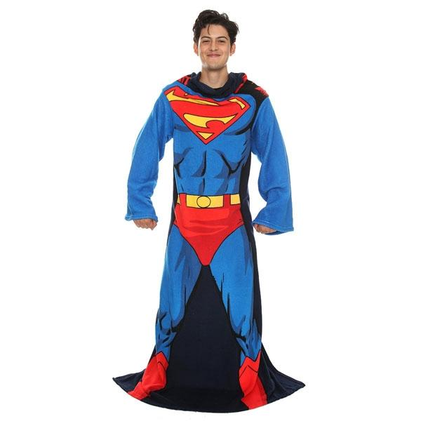 Superman Throw Blanket with Sleeves