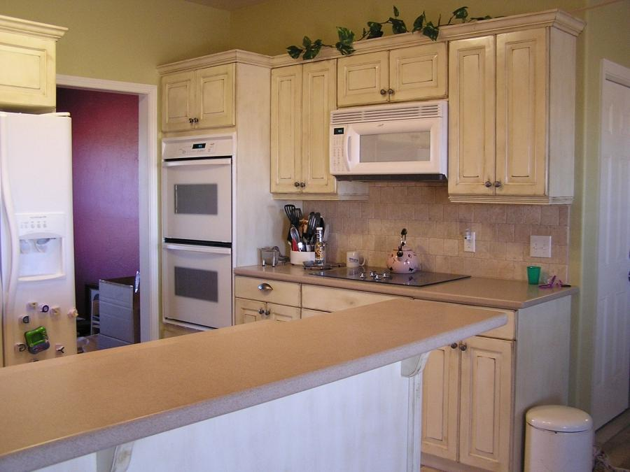 This was a kitchen remodel. It was your typical 1970u style...