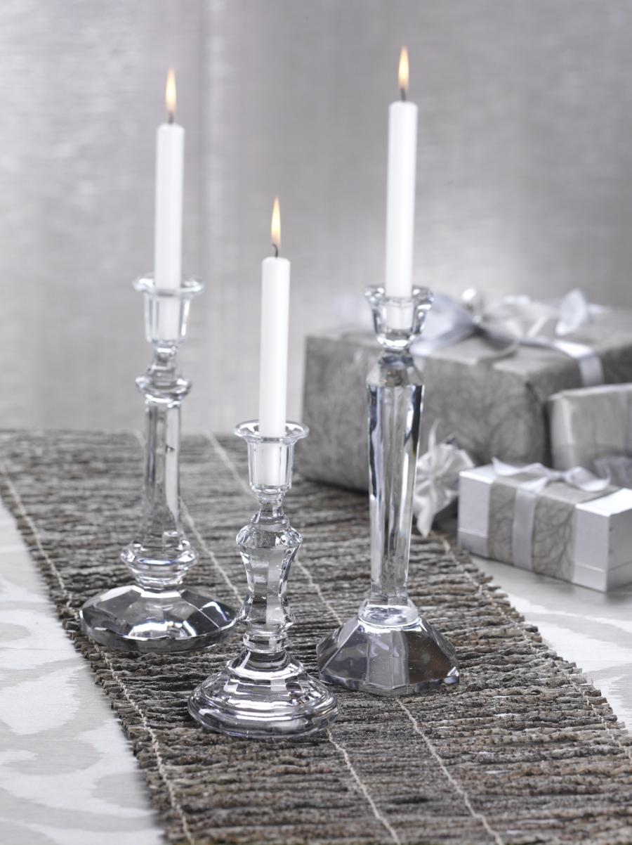 Glass candle holder with photo