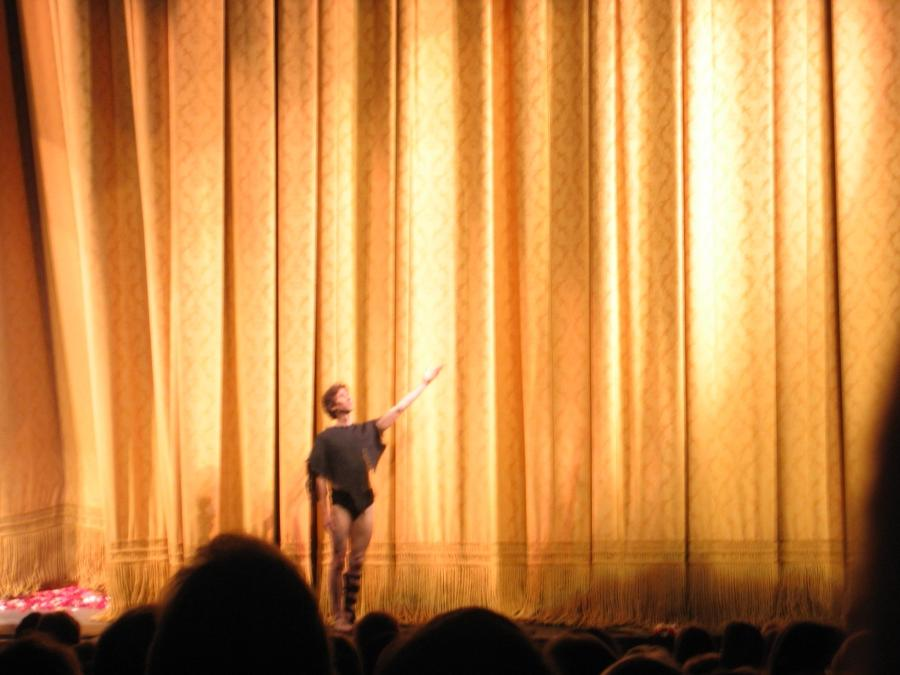 Damian Woetzel in front of the current curtain, June 2008 u2013...
