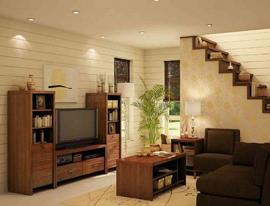 Living Room : Interior Decoration Attractive Simple Living Room...