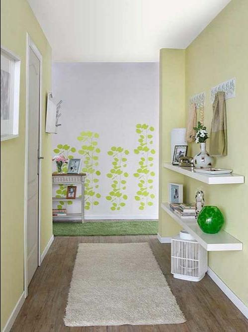 Inspiring Hallway Designs in Colorful Spring Wallpaper and...