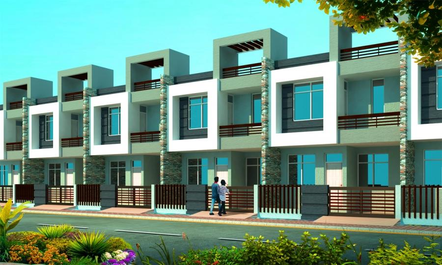 Photos of row houses in india for Row house plans india
