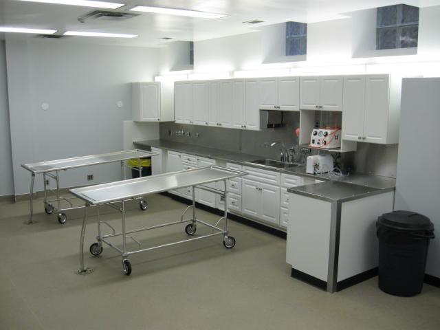 Mortuary Prep Room Photos