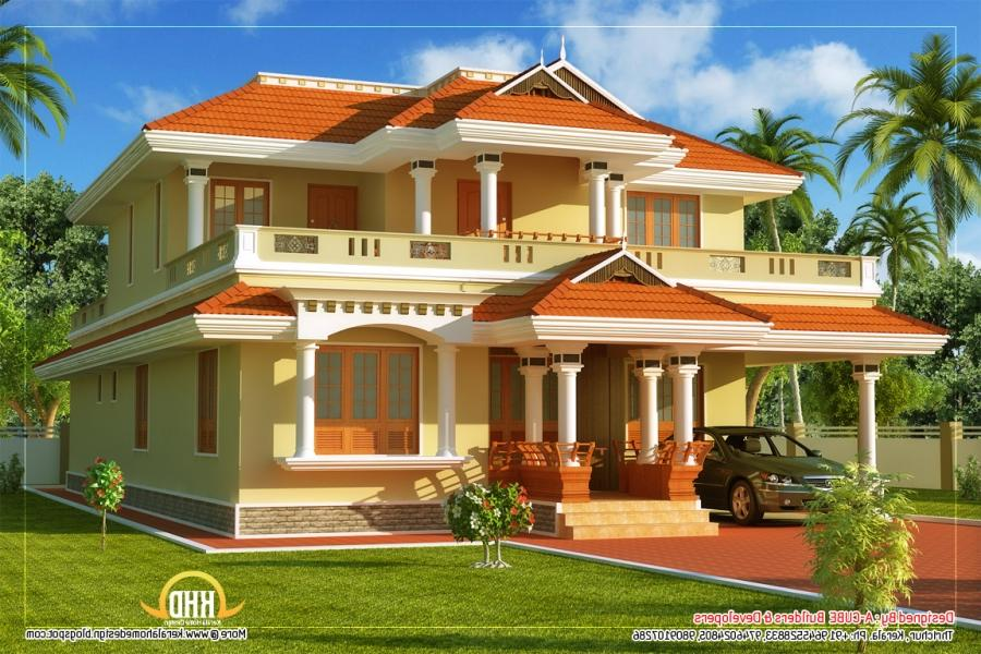 Very good house plans with photos in kerala - Exterior house paint colours plan ...