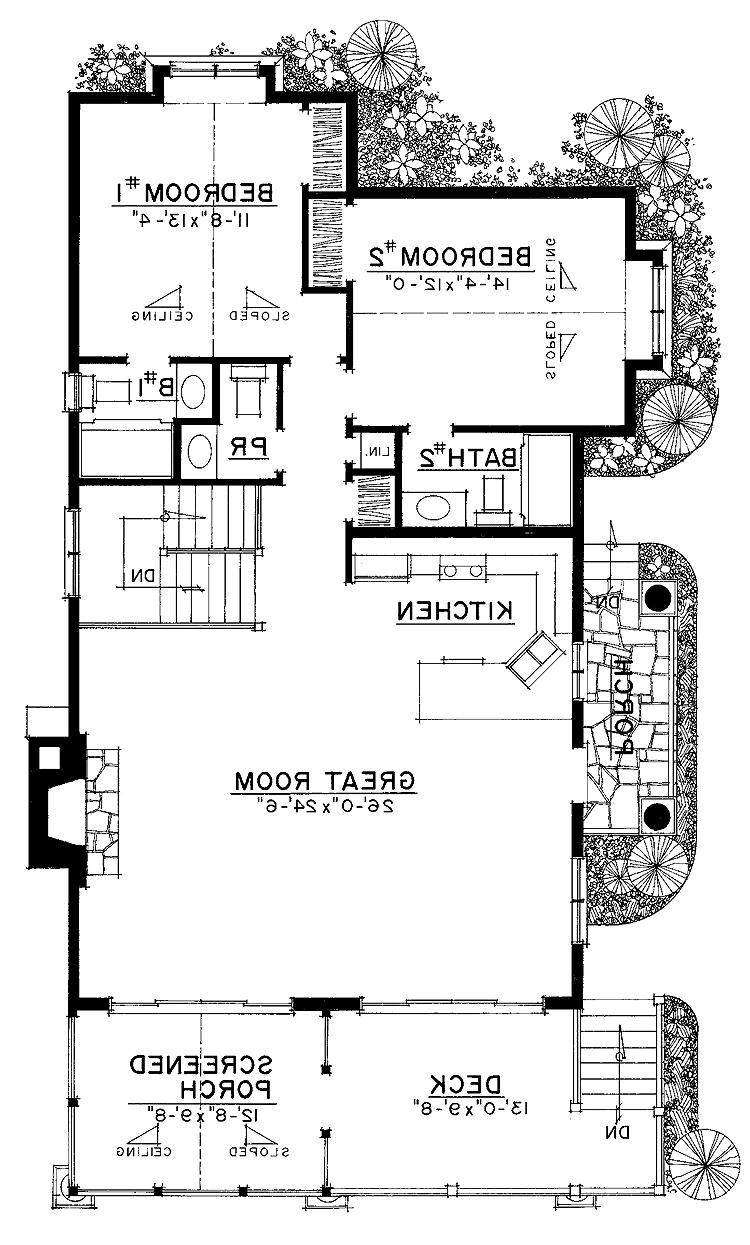 Riverfront house plans photos for Waterfront home plans sloping lots