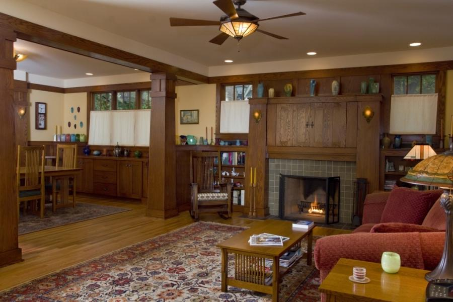 Craftsman living room photos