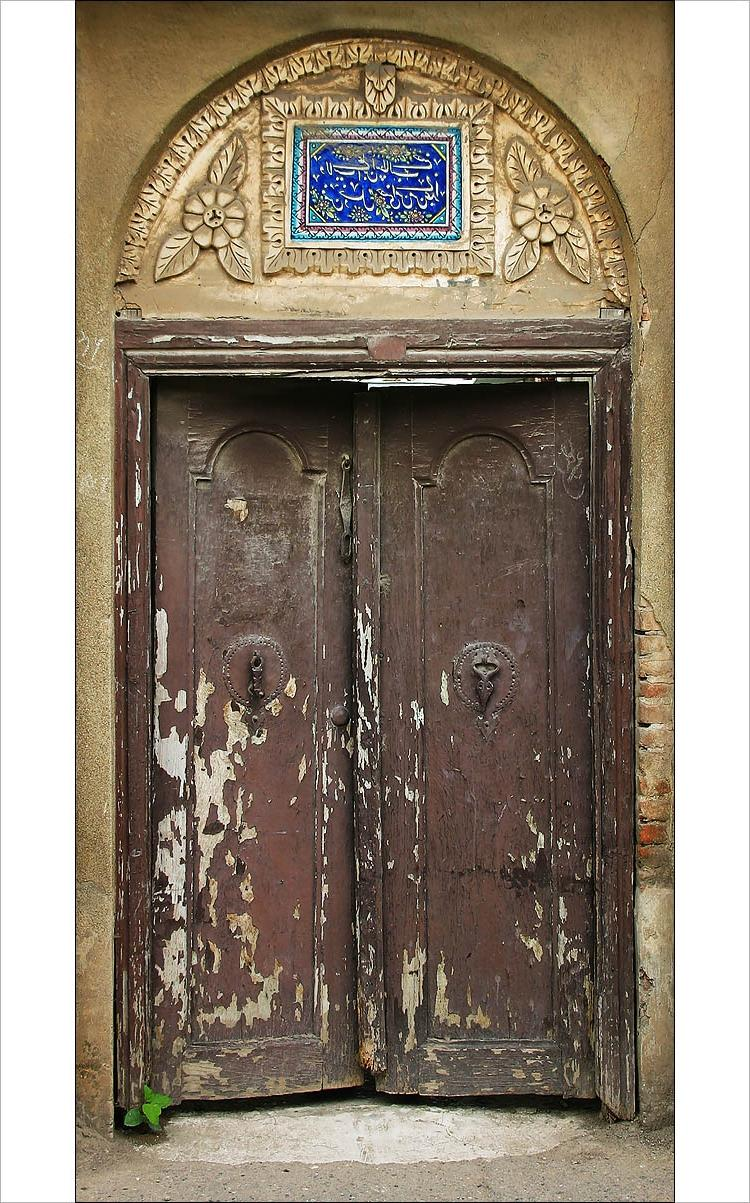 harvestheart: Old wooden doors in rasht, a city close to Caspian...