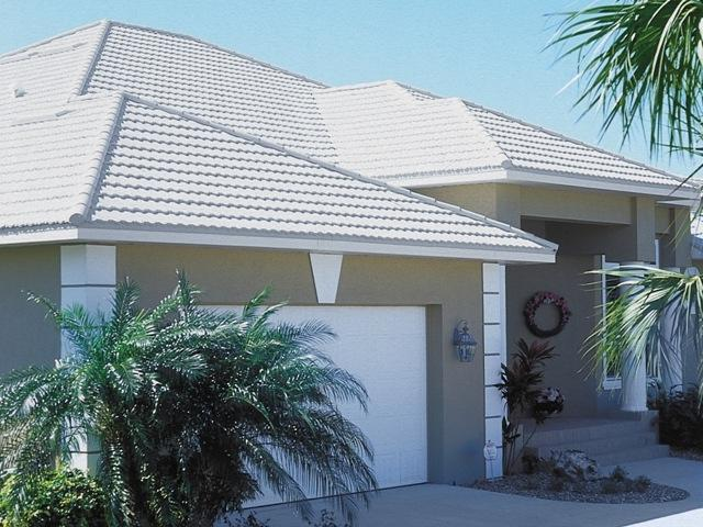 Special Order Pearl White Energy Star Metro Tile Roof
