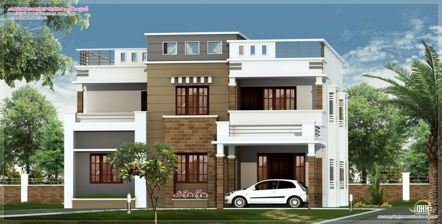 2600 sq-ft flat roof villa. Facilities in this house