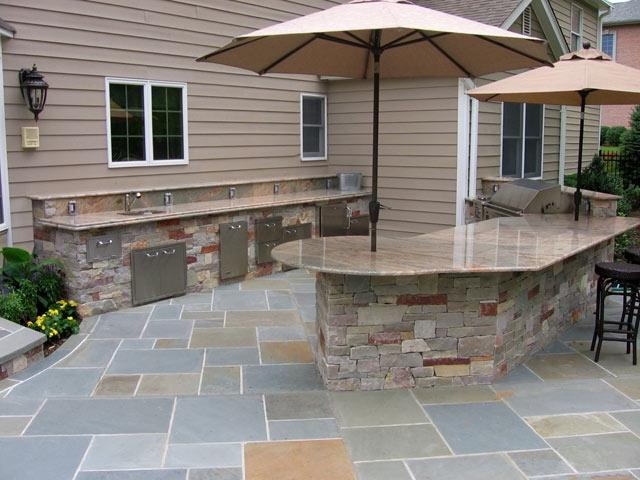 Pool and outdoor kitchen photos for Outdoor kitchen designs nj