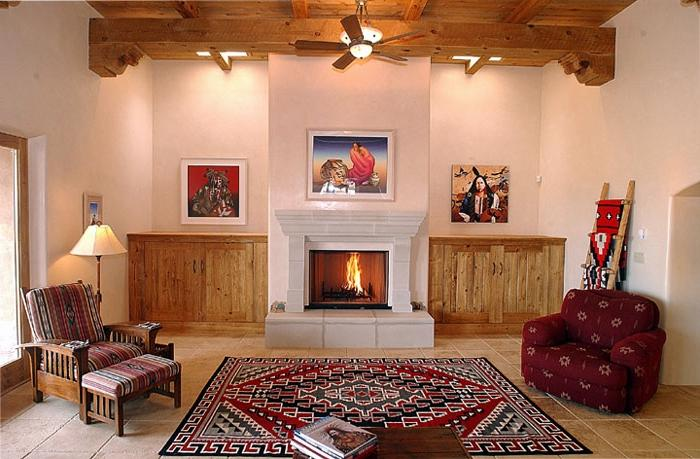 Southwest interior design photos for American indian design and decoration