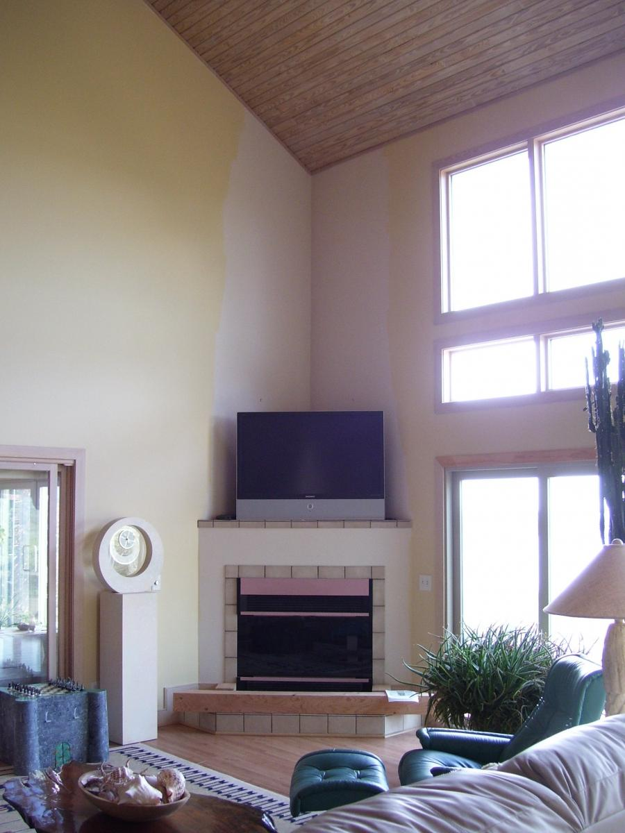 ... Living Room With Corner Fireplace Clearance Wallpaper ...