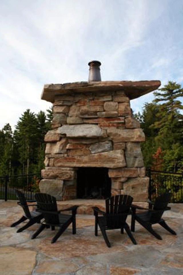 Rustic Outdoor Fireplace Photos