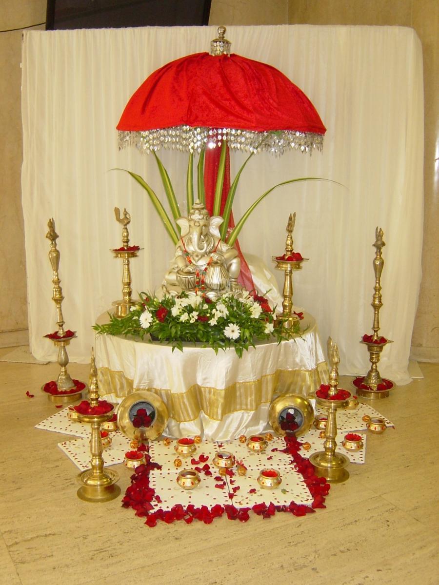 Ganesh Mandap Decoration Photos