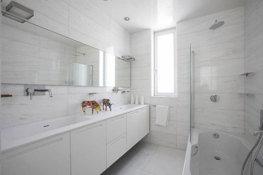 Home Design White Bathroom Interior listed in: