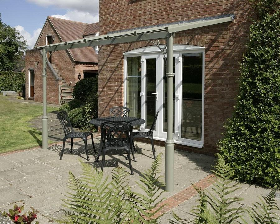 If the veranda is fitted below the eaves of a pitched roof it is...
