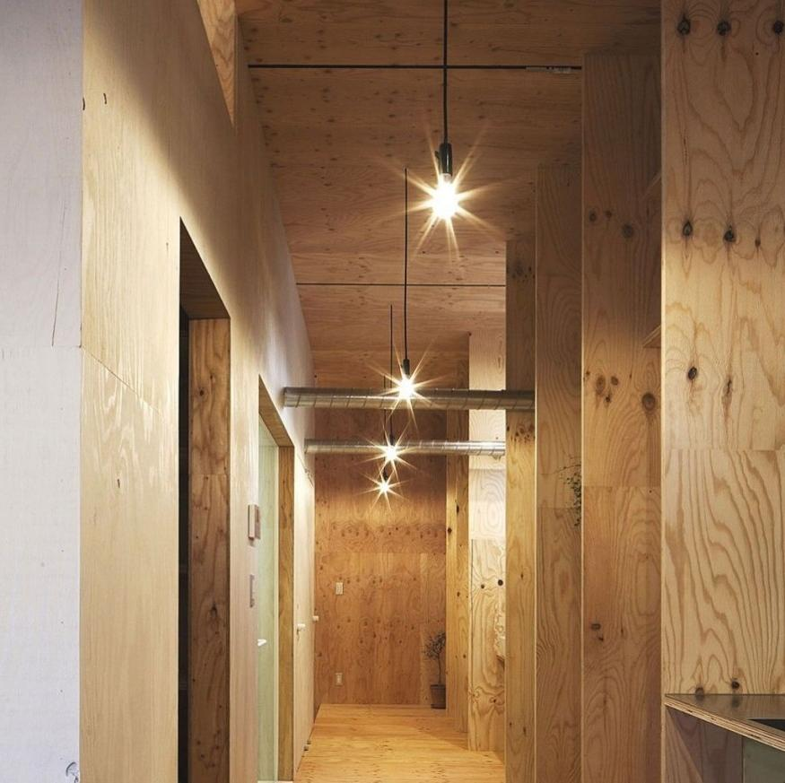 Interior Yellow Timber Hallway Designs Ant House