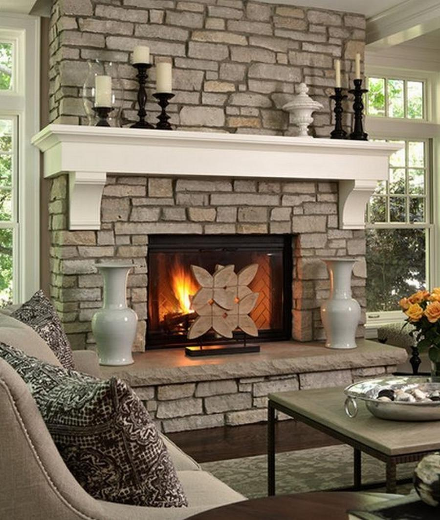 Stone Fireplace Photos Images