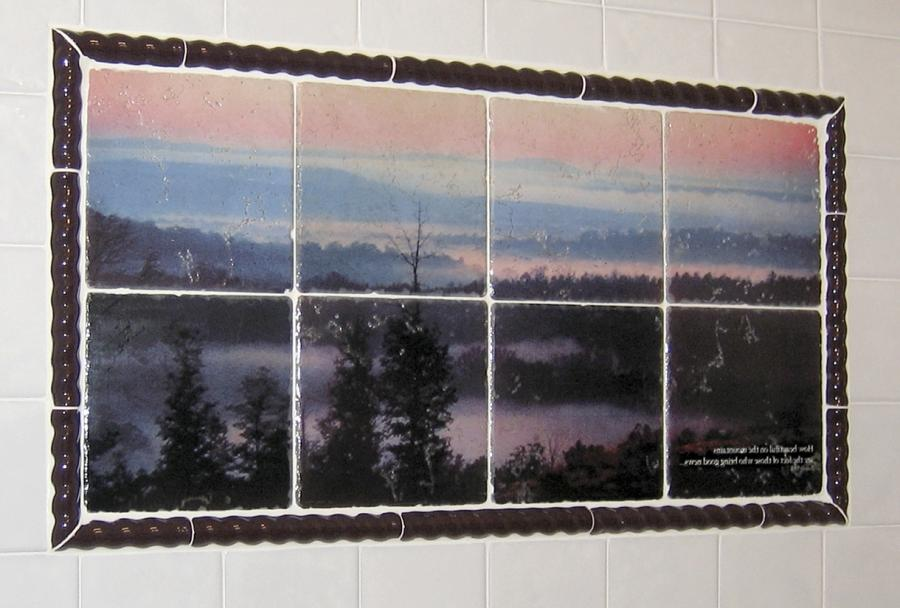 Custom photo tile murals for Custom photo tile mural