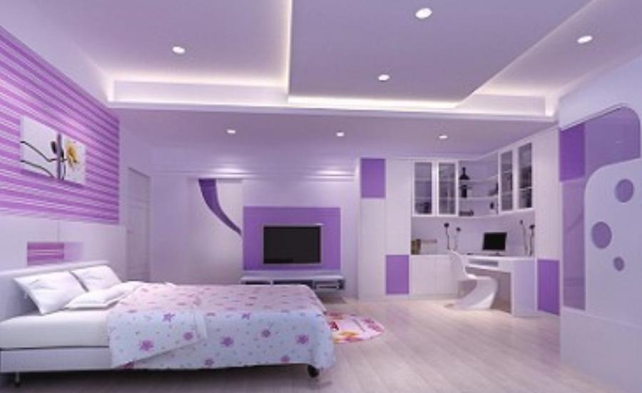 Photos of pink and purple bedrooms - Bedroom interior pink purple ...