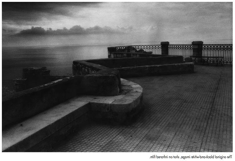 I printed Taormina on black-and- white silver gelatin paper in a...