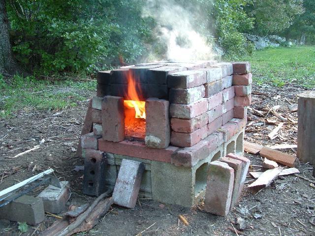 Маленькая печка своими рукам