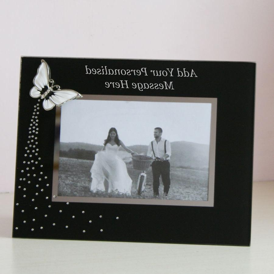 personalised glass photo frames uk