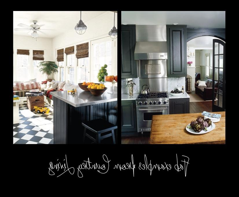 Pretty Country Living Black Kitchens