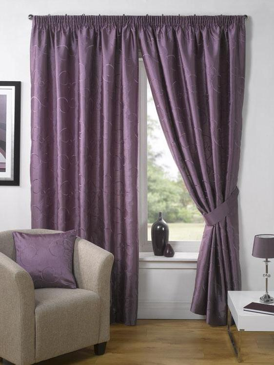 With Vibrant Wallpaper : New Living Room Curtains Designs Ideas