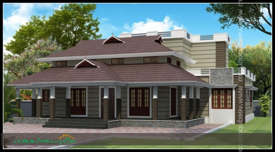 Nalukettu model house plans and photos for Veedu models of kerala
