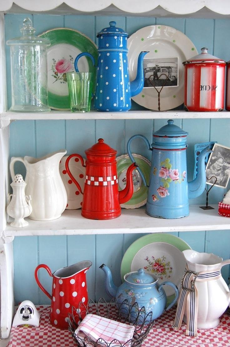Turquoise And Red Kitchen Photos