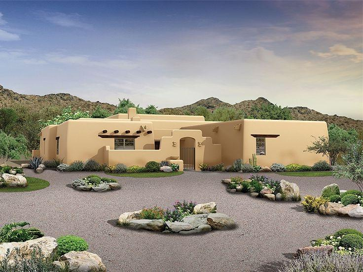 Adobe house plans with photos for Adobe floor