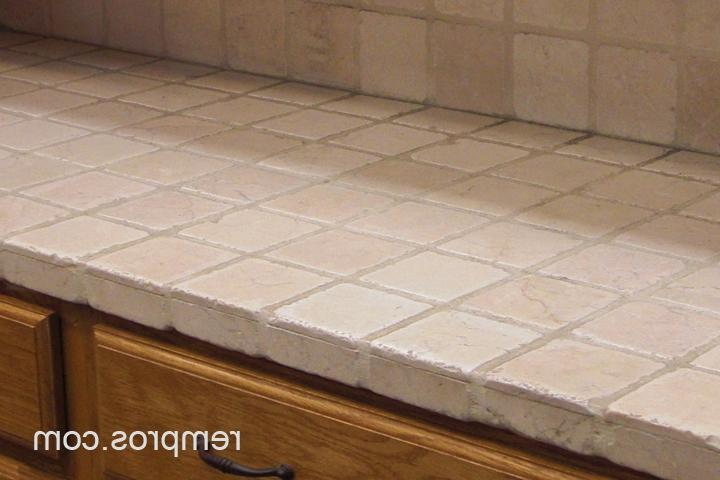 Travertine Vs Granite Countertops : Tile kitchen countertops photos