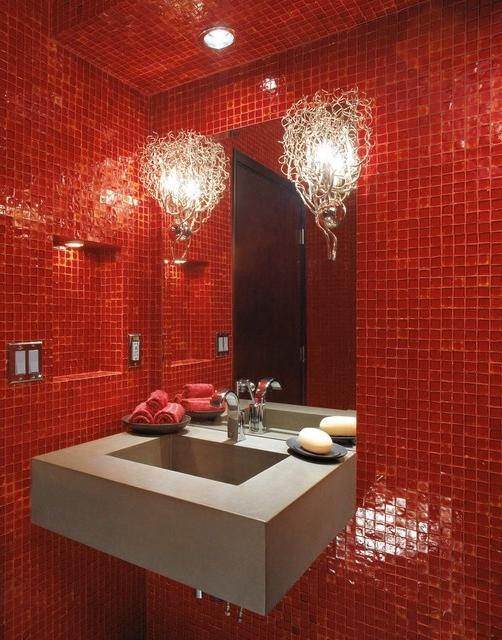 Red Bathroom Photos