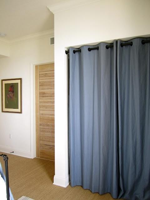 Curtains instead of closet doors 2