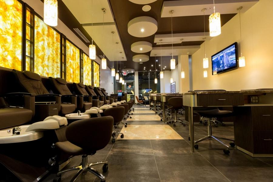 Nail salon interior design photos