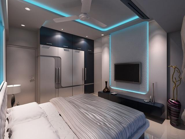 Interior design photos of bedrooms in mumbai for High end residential interior design