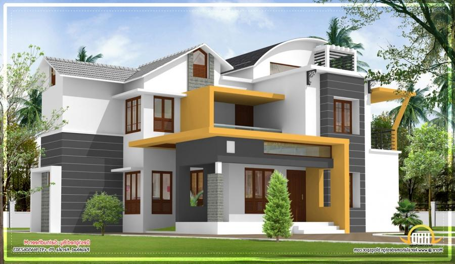 Contemporary house plans photos kerala for Home architecture photos