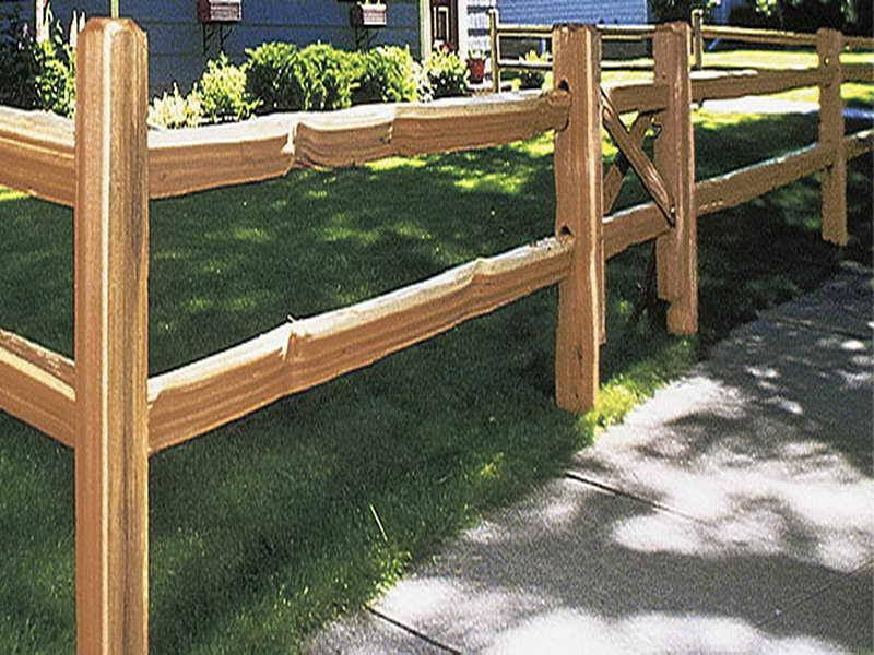 Fence Photo Rail Split