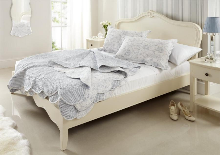 Florence French Style Wooden Bed Frame - Double Bed Frame Only |...