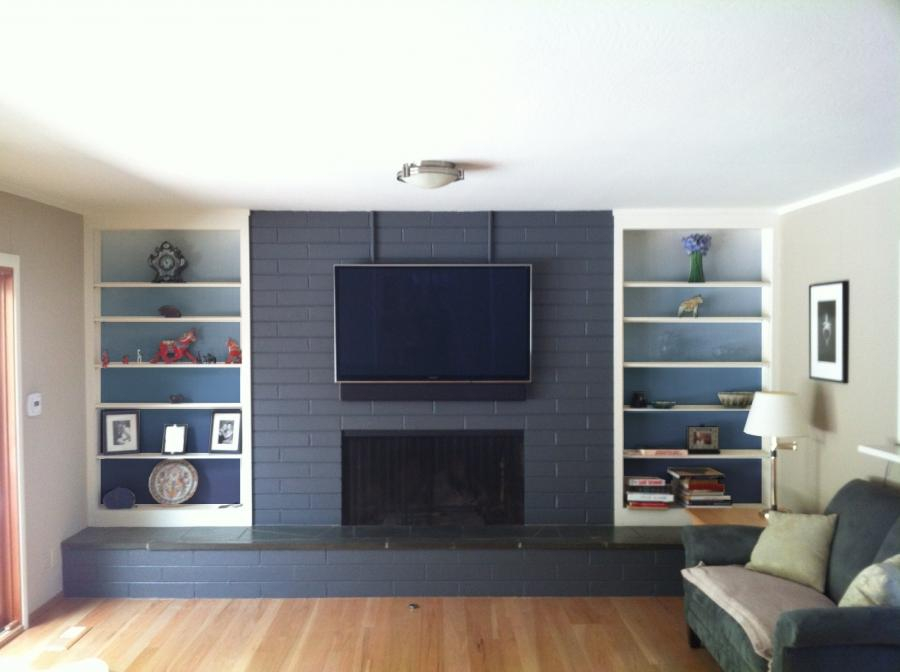 New Bookshelves Flanking The Fireplace Plate Collection More Bookshelves