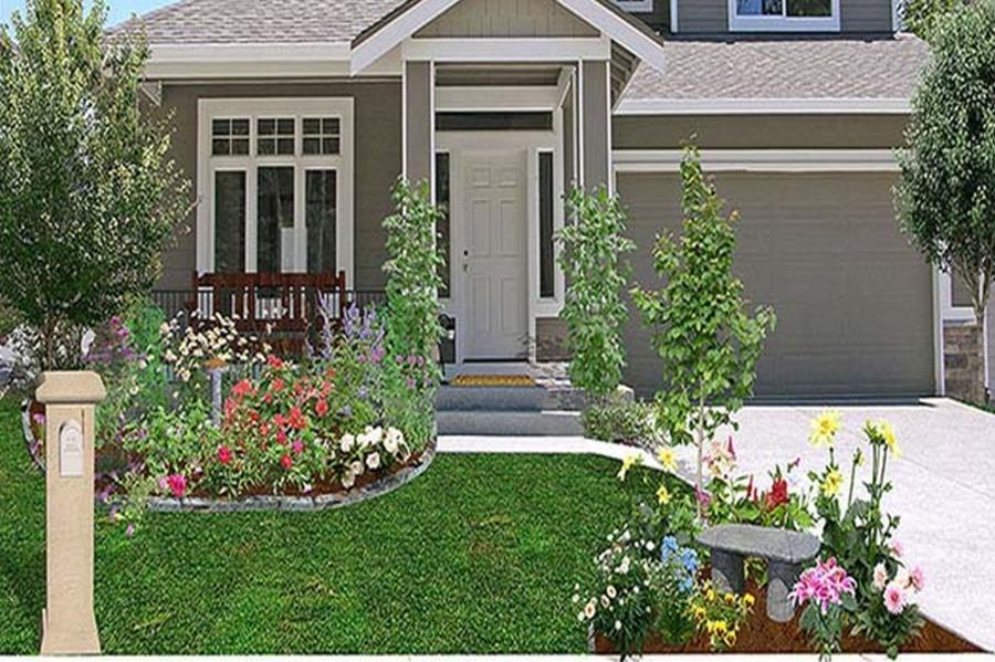front house garden photos