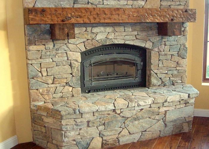Gibbs Corner Stacked Stone Fireplace Mantel Kits