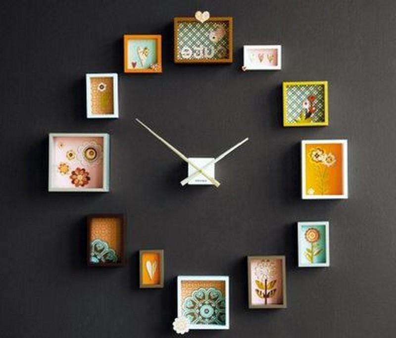 Часы из фото на стену своими руками 624