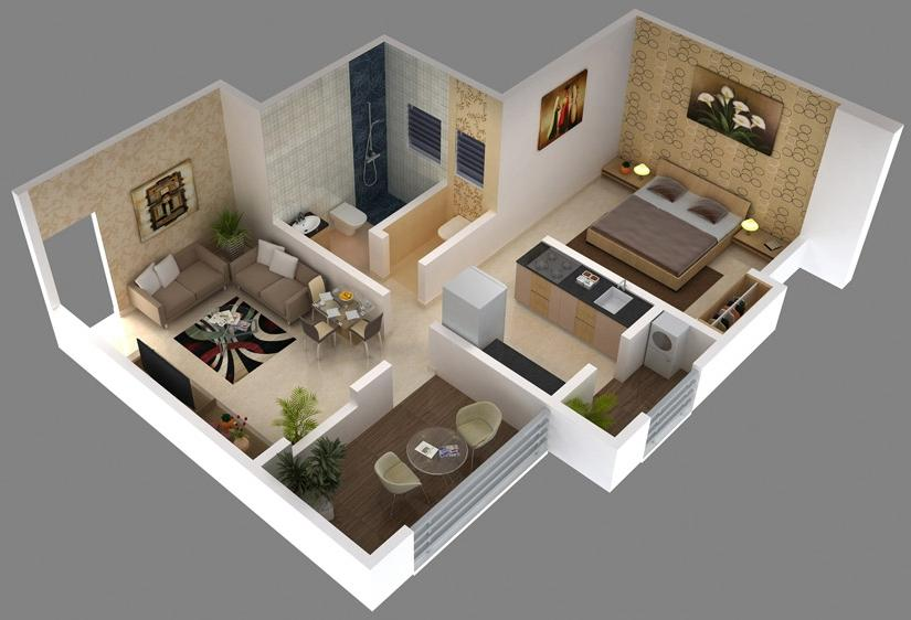 interior design photos for 1bhk flat